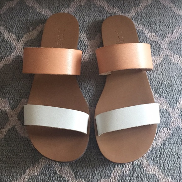 2c38970e92c6a J. Crew Shoes - J.CREW sandals in cream and white - size 6